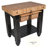 "John Boos CU-GB3624-AL 36"" Gathering Block Table II, Hard Maple Top w/ Alabaster Base"