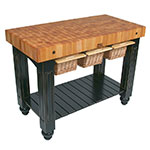 "John Boos CU-GB4824-N 48"" Gathering Block Table III, Hard Maple Top w/ Natural Maple Base"