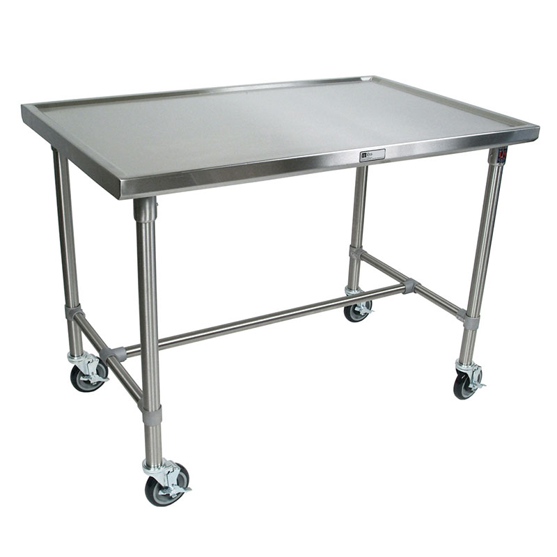 John Boos CU-MAR4824-40 Mariner Table w/ Center Bracing, Stainless Top & Legs, 48x24x40""