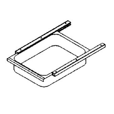 John Boos D04 Front Drawer & Pan for Stainless Tables w/ Poly Friction Slide, 15 x 20 x 5-in