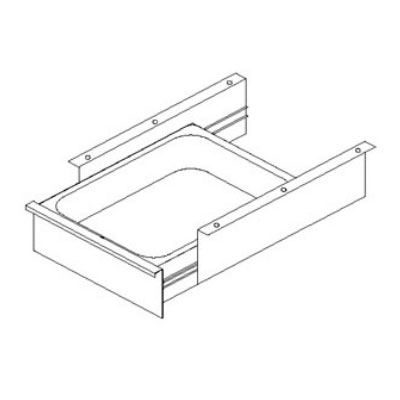 John Boos D09 Front Drawer & Pan for Stainless Tables w/ Roller Bearing, 15 x 20 x 5-in