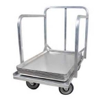 "John Boos D1927-SP-H Sheet Pan Dollie w/ Aluminum Construction & 3"" Plate Casters, Handle"