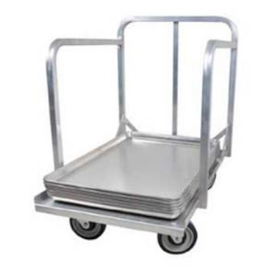 John Boos D1927-SP-H Sheet Pan Dollie w/ Aluminum Construction & 3-in Plate Casters, Handle