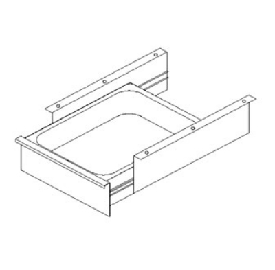 John Boos D20-SC Self-Closing Front Drawer & Pan for Stainless Tables, 20 x 20 x 5-in