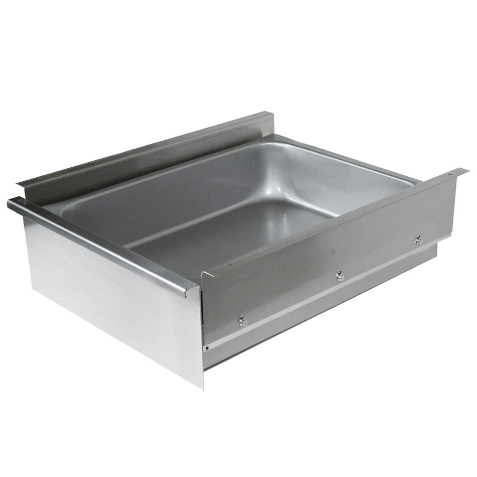 "John Boos DP2015-S24 Drawer for 24"" Wide Tables- Poly Friction Slides, 15x20x5"", Stainless"