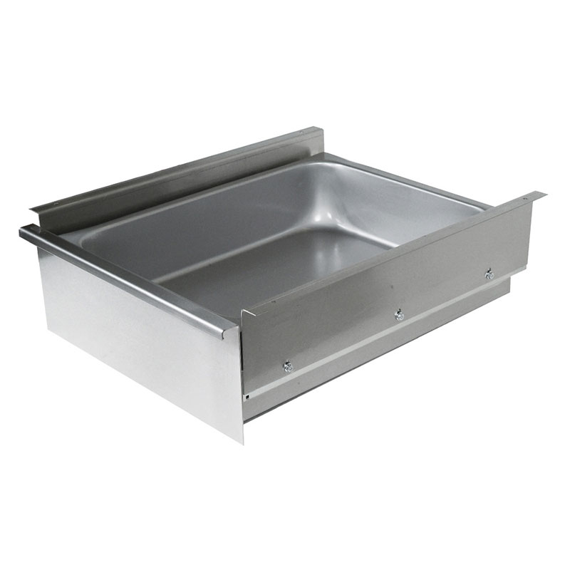 "John Boos DP2015-W Drawer for Wood Top Tables - Poly Friction Slides, 15x20x5"", Stainless"