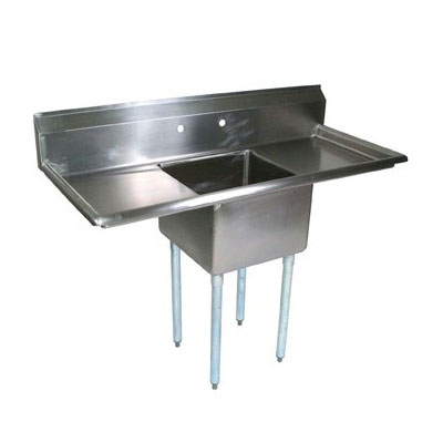 "John Boos E1S8-1824-14T24 66"" 1-Compartment Sink w/ 18""L x 24""W Bowl, 14"" Deep"