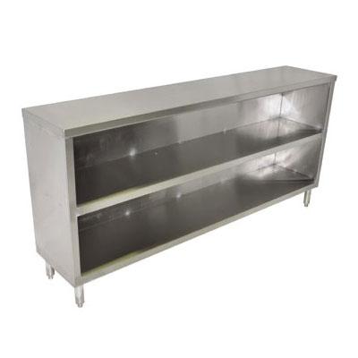 "John Boos EDSC8-1872 72"" Enclosed Work Table w/ Open Base & Midshelf, 18""D"