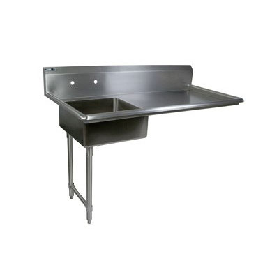 "John Boos EDTS8-S30-50UCL 50"" Undercounter Soiled Dishtable w/ 18-ga Stainless Legs, L to R"