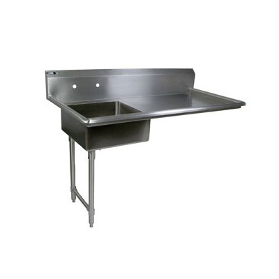 "John Boos EDTS8-S30-60UCL 60"" Undercounter Soiled Dishtable w/ 18-ga Stainless Legs, L to R"