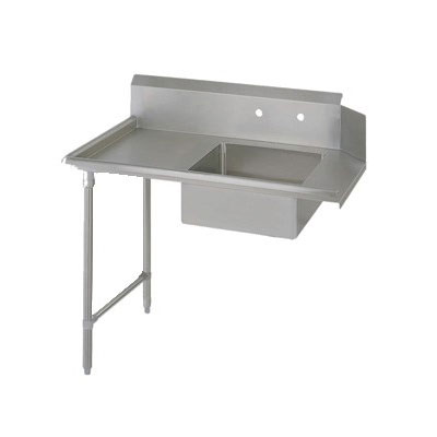 "John Boos EDTS8-S30-L72 72"" Soiled Dishtable w/ Galvanized Legs & 18-ga Stainless Top, L to R"