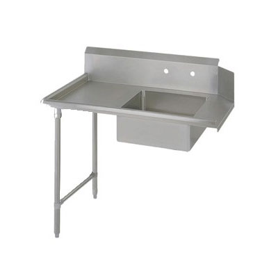 "John Boos EDTS8-S30-L36 36"" Soiled Dishtable w/ Galvanized Legs & 18-ga Stainless Top, L to R"