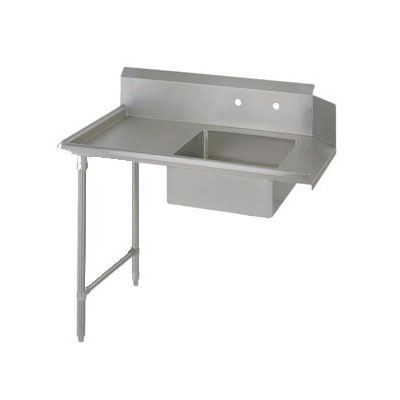 "John Boos EDTS8-S30-L48 48"" Soiled Dishtable w/ Galvanized Legs & 18-ga Stainless Top, L to R"
