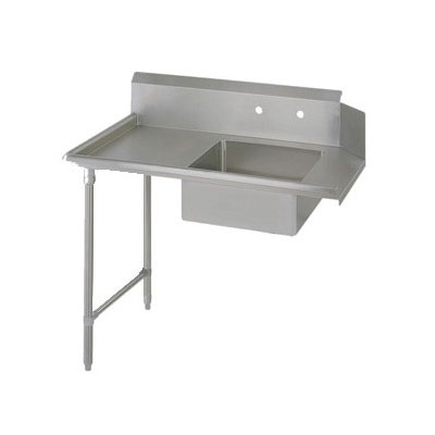 "John Boos EDTS8-S30-L60 60"" Soiled Dishtable w/ Galvanized Legs & 18-ga Stainless Top, L to R"