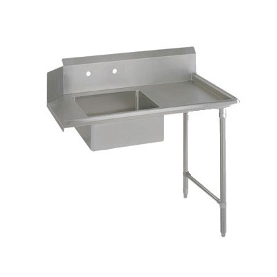 "John Boos EDTS8-S30-R48 48"" Soiled Dishtable w/ Galvanized Legs & 18-ga Stainless Top, R to L"