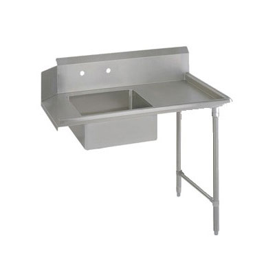 "John Boos EDTS8-S30-R60 60"" Soiled Dishtable w/ Galvanized Legs & 18-ga Stainless Top, R to L"