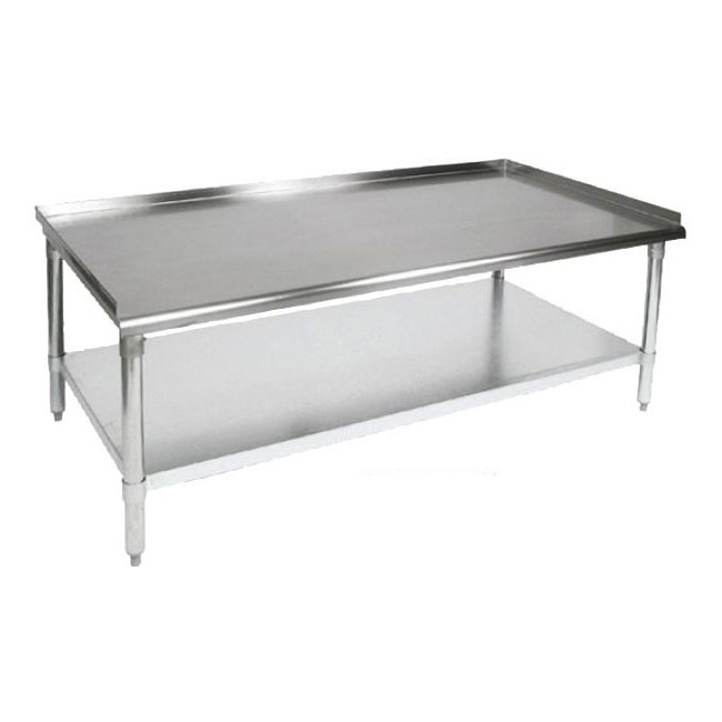 John Boos EES8-3060 Equipment Stand w/ Adjustable Galvanized Undershelf & Legs, 60 x 30-in