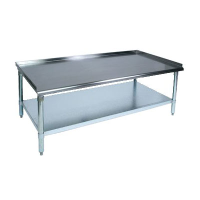 """John Boos EES8-3024SSK 24"""" x 30"""" Stationary Equipment Stand for General Use, Undershelf"""