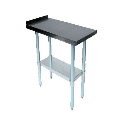 John Boos EFT8-3015 Riser Top Filler Table w/ Galvanized Legs, Stainless Top, 30 x 15""