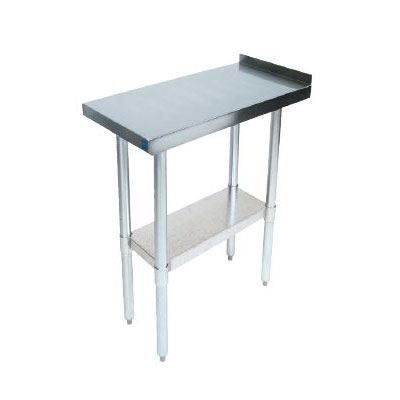 John Boos EFT8-3018 Riser Top Filler Table w/ Galvanized Legs, Stainless Top, 30 x 18""
