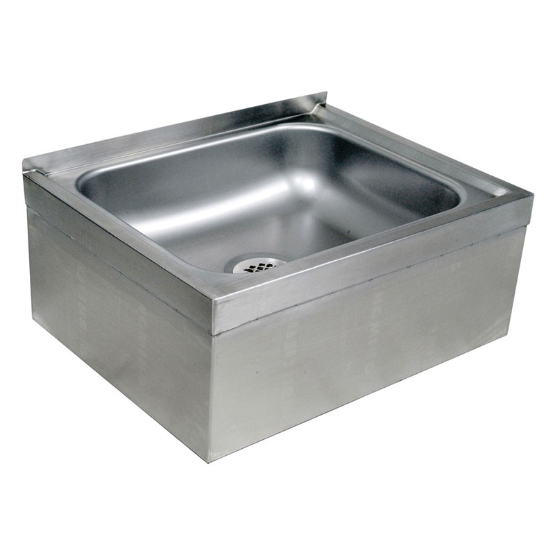 "John Boos EMS-2016-6 Floor Mount Mop Sink w/ 6""D Bowl"
