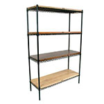 John Boos EP-184874-BK Epoxy Coated Wire Shelving Unit w/ (4) Levels, 18x48x74""