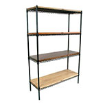 John Boos EP-244866-BK Epoxy Coated Wire Shelving Unit w/ (4) Levels, 24x48x66""