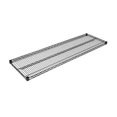 John Boos EPS-1430-BK Epoxy Coated Wire Shelf - 14x30