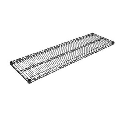 John Boos EPS-1454-BK Epoxy Coated Wire Shelf - 14x54""