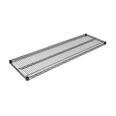"John Boos EPS-1848-BK Epoxy Coated Wire Shelf - 18x48"""