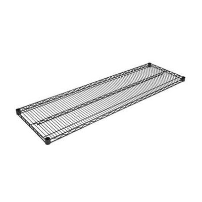 John Boos EPS-2472-BK Epoxy Coated Wire Shelf - 24x72""