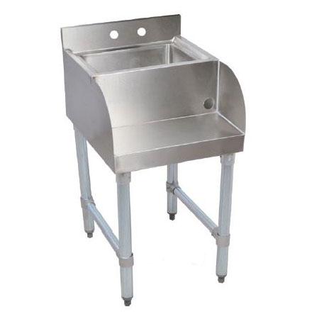 John Boos EUBBS-1410 Underbar Blender Station Dump Sink w/ 14 x 10 x 6-in Bowl, 21 X 18-in