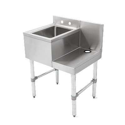 "John Boos EUBBS-1410-SL 24"" 1-Compartment Sink w/ 24""L x 18""W Bowl6"" Deep"