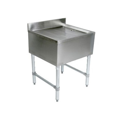 John Boos EUBD-3621 Underbar Stamped Ribbed Drainboard w/ Galvanized Legs, 36 x 21-in