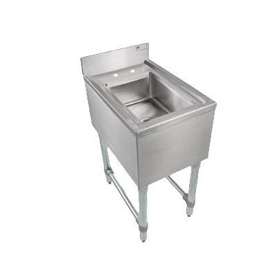 John Boos EUBDS-1014 Underbar Dump Sink w/ Galvanized Leg...