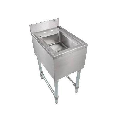 "John Boos EUBDS-1014-PSL Underbar Dump Sink - 10x14x6"" Bowl, Faucet, 14x18x32.5"", 18-ga Stainless"
