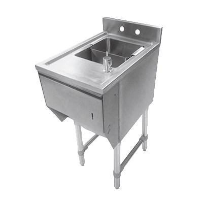 "John Boos EUBDS-1218STD Underbar Dump Sink w/ Galvanized Legs, 12x18x33.125"""