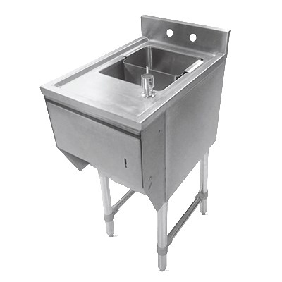 "John Boos EUBDS-1221STD Underbar Dump Sink w/ Galvanized Legs, 12x21x33.125"""