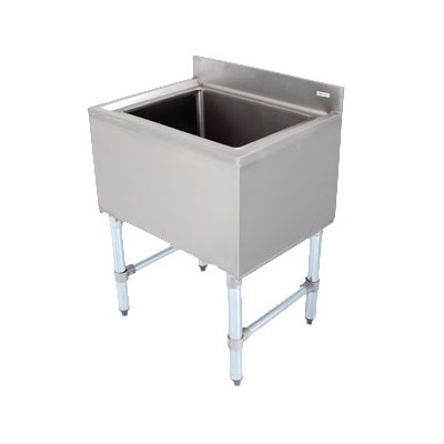 "John Boos EUBIB-4818 Underbar Ice Bin - Insulated with Drain, 48x18x30"", 18-ga Stainless"