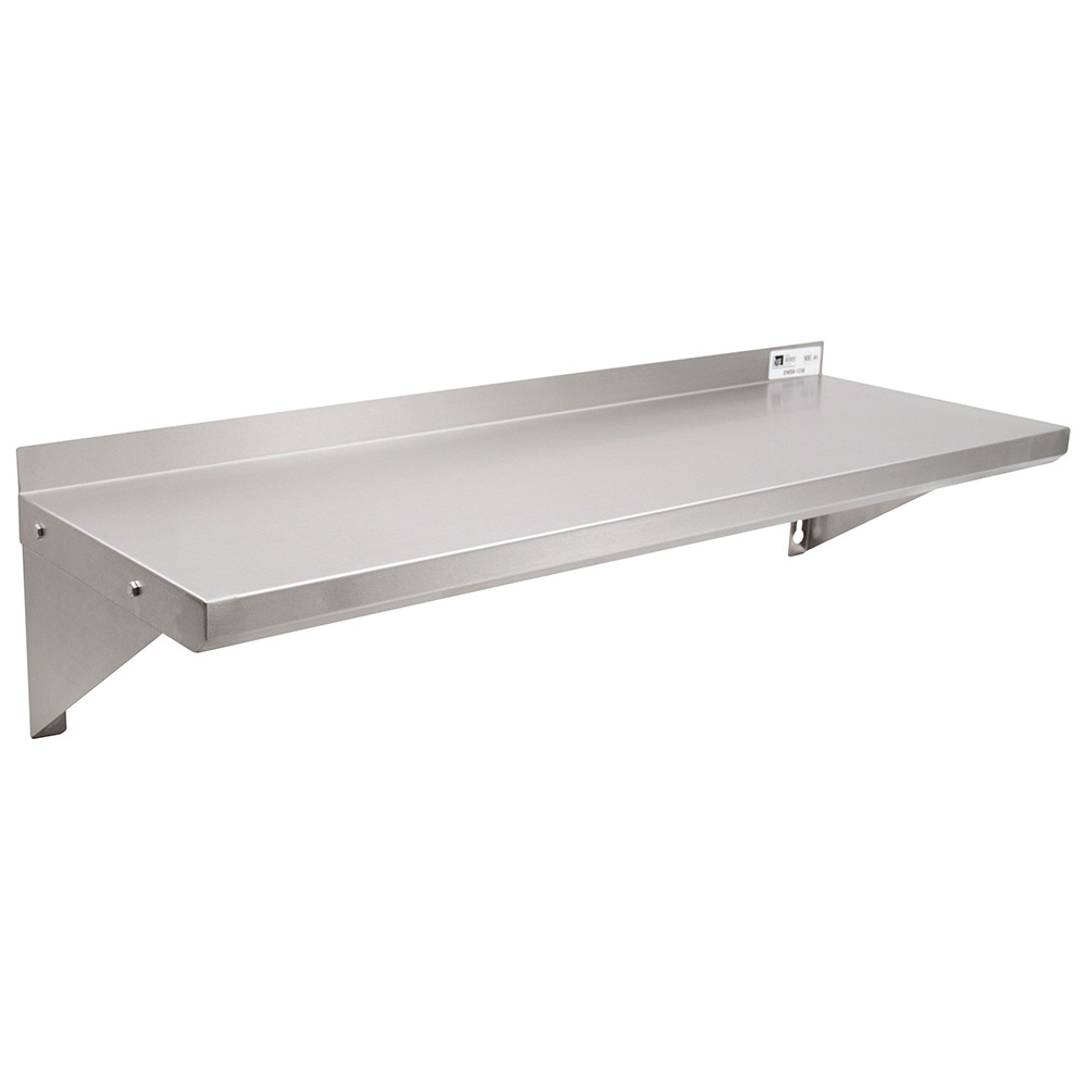 "John Boos EWS8-1296 Wall Shelf w/ 1.5"" Rear High Riser, 96 x 12"""