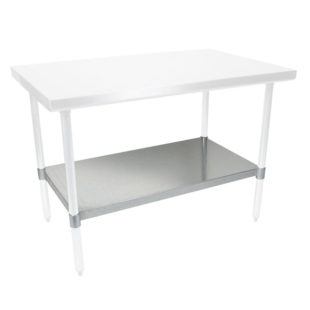 "John Boos FBLG4824SHF Work Table Undershelf, 48x24"", Galvanized"