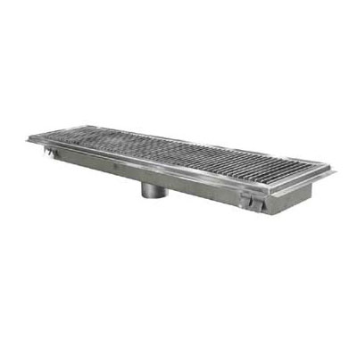 John Boos FTSG-1224 Floor Trough w/ Mounting Flange & Removable Subway Grate, 12 x 24""