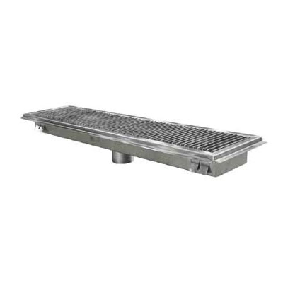 "John Boos FTSG-1824 18"" Floor Trough w/ Removable Subway Grate & Flat Perforated Strainer"