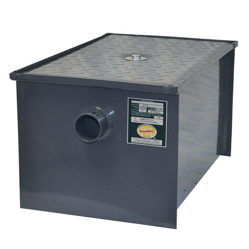 John Boos GT-50 Grease Interceptor w/ 25-lb GPM Capacity, Carbon Steel, Size #50