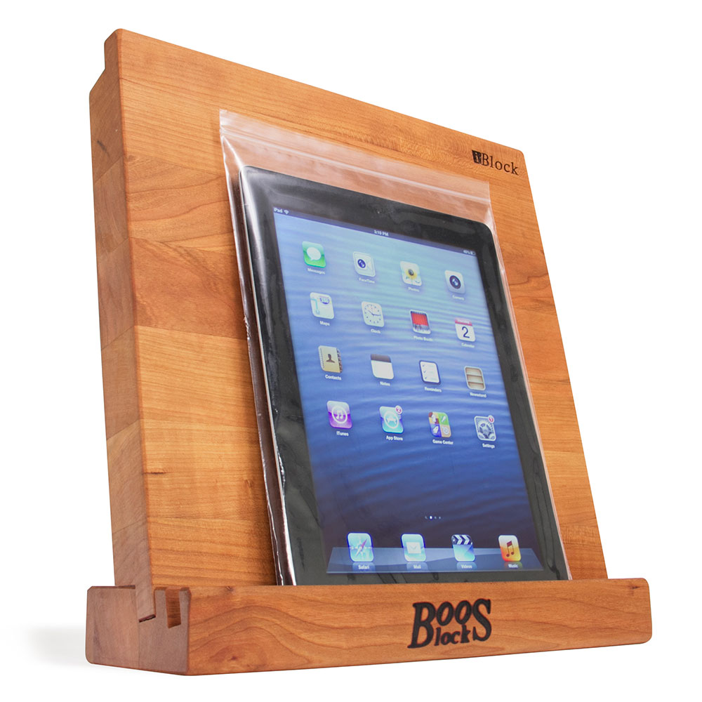 John Boos I-BLOCK-C Cherry Cutting Board w/ Tablet Stand