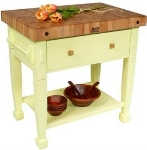 "John Boos JASMN36243-D-S AL Jasmine Hard Maple Table, 36 x 24"", Alabaster"