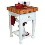 """John Boos JASMN24243-D-S AL Jasmine Hard Maple Table, 24 x 24"""", Alabaster"""