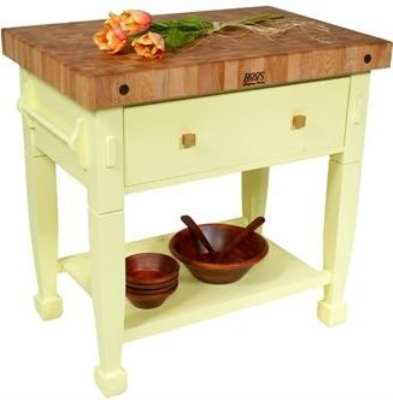 John Boos JASMN24243-D-S BN Jasmine Hard Maple Table, 24 x 24-in, Barn Red