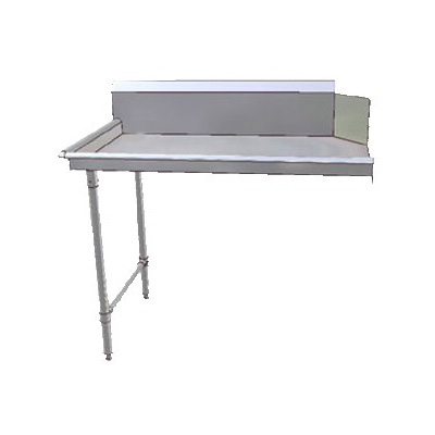 "John Boos JDTC-20-48L 48"" Clean Dishtable w/ 16-ga Stainless Legs, L to R"