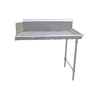 "John Boos JDTC-20-48R 48"" Clean Dishtable w/ 16-ga Stainless Legs, R to L"